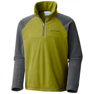 Columbia Boy ' S Youth Glacial Half Zip - Grill / Python Green