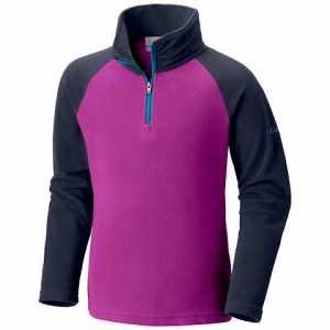 Columbia Girl ' S Youth Glacial Fleece Half Zip - Bright Plum / Nocturnal