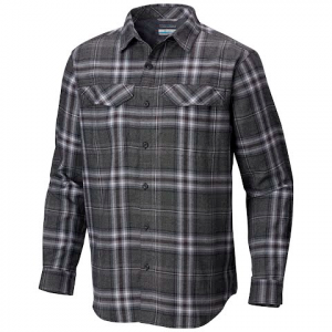 Columbia Men ' S Silver Ridge Flannel Long Sleeve Shirt - Black Plaid