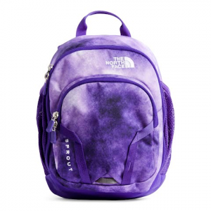 The North Face Youth Sprout Daypack - Dahlia Purple Cloud Print