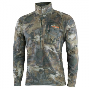 Sitka Gear Men ' S Grinder Half Zip - Optifade Waterfowl Timber