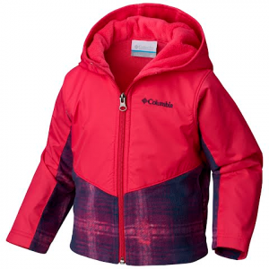 Columbia Toddler Steens Mountain Overlay Hoodie Jacket - Cactus Pink Twill Plaid