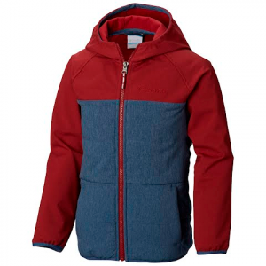 Columbia Boy ' S Youth Take A Hike Softshell Jacket - Dark Mountain / Red Element
