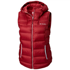 Columbia Women ' S Explorer Falls Hooded Vest - Rich Wine