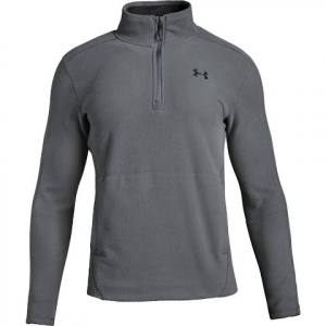 Under Armour Men ' S Ua Zephyr Fleece Solid 1 / 4 Zip - Graphite / Black