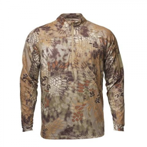 Kryptek Apparel Men ' S Valhalla 2 Long Sleeve Zip ( Extended Sizes ) - Kryptek Highlander