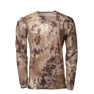 Kryptek Apparel Men ' S Valhalla Long Sleeve Crew Shirt ( Extended Sizes ) - Kryptek Highlander