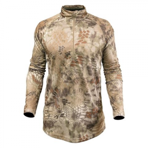 Kryptek Apparel Men ' S Hyperion Long Sleeve Zip ( Extended Sizes ) - Kryptek Highlander