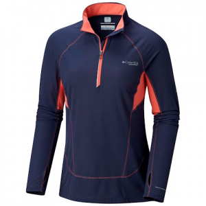 Columbia Women ' S Titan Ultra Ii Half Zip Shirt - Nocturnal / Melonade / Astral Zi