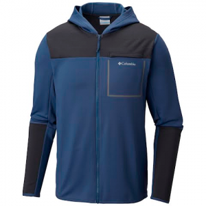 Columbia Men ' S Tech Trail Hybrid Hoodie - Dark Mountain / Shark