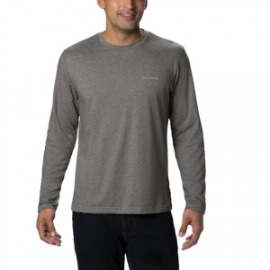 Columbia Men ' S Thistledown Park Long Sleeve Crew ( Extended Sizes ) - Charcoal Heather