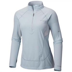 Columbia Women ' S Titan Ultra Ii Half Zip Shirt - Cirrus Grey