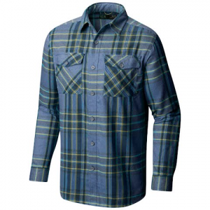 Mountain Hardwear Men ' S Trekkin Flannel Long Sleeve Shirt - Machine Blue
