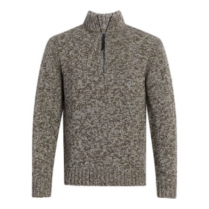 Woolrich Men ' S Woodward Half Zip - Hazelwood Mix