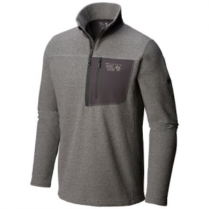 Mountain Hardwear Men ' S Toasty Twill Fleece 1 / 2 Zip - Manta Grey