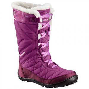 Columbia Youth Minx Mid Iii Wp Omni - Heat Boot - Plum / Crown Jewel