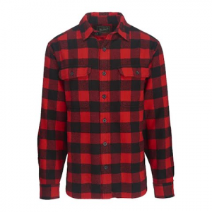 Woolrich Men ' S Oxbow Bend Plaid Flannel Shirt : Modern Fit - Dark Cobalt