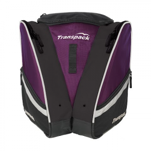 Transpack Compact Pro Boot Bag - Plum / Silver Electric