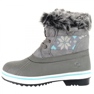 Northside Girl ' S Youth Brookelle Winter Boots - Grey / Blue