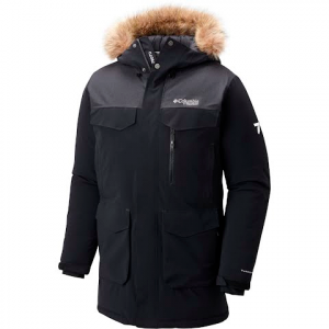Columbia Men ' S Titan Pass 780 Turbodown Parka ( Extended Sizes ) - Black