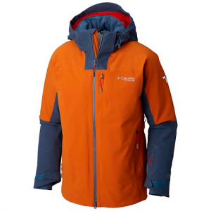 Columbia Men ' S Powder Keg Ii Jacket - Bright Copper / Dark Mountain