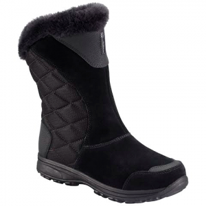 Columbia Women ' S Ice Maiden Ii Slip Boot - Black / Shale