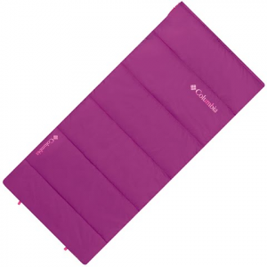 Columbia Youth Rectangle 40 Degree Sleeping Bag - Foxglove