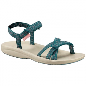 Columbia Women ' S Wave Train Sandals - Cloudburst / White