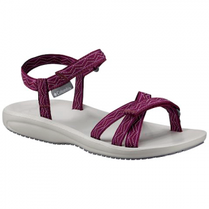 Columbia Women ' S Wave Train Sandals - Dark Raspberry / White