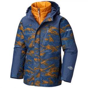 Columbia Boy ' S Youth Whirlibird Ii Interchange Jacket - Dark Mtn Mountains Print