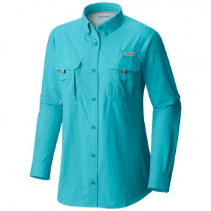 Columbia Womens Bahama Long Sleeve Shirt ( Extended Sizes ) - Clear Blue