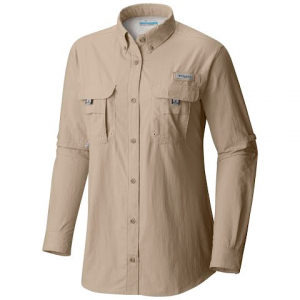 Columbia Womens Bahama Long Sleeve Shirt ( Extended Sizes ) - Fossil