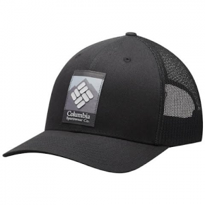 Columbia Mesh Snap Back Hat - Grill Heather / Circle Patch