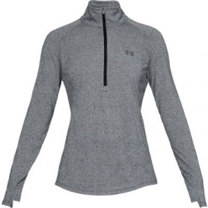 Under Armour Women ' S Threadborne Twist Half Zip - Black / Charcoal