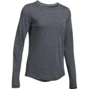 Under Armour Women ' S Threadborne Twist Crew - Black / Graphite
