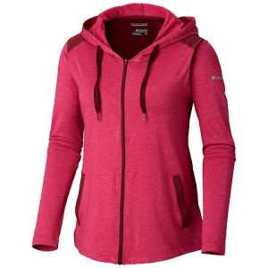 Columbia Women ' S Place To Place Full Zip Hoodie - Wine Berry Heather