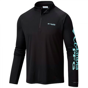 Columbia Men ' S Terminal Tackle 1 / 4 Zip - Black / Gulf Stream Logo
