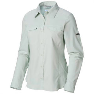 Columbia Women ' S Silver Ridge Lite Long Sleeve Shirt - Cool Green