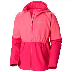 Columbia Youth Girl ' S Hidden Canyon Softshell Jacket - Wild Gernaium / Haute Pink Heather