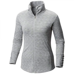 Columbia Women ' S Outerspaced Iii Full Zip Top ( Extended Sizes ) - Columbia Grey Spacedye
