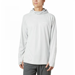 Columbia Men ' S Pfg Terminal Deflector Zero Hoodie - Cool Gray