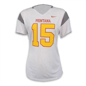 Bcs Apparel Nike Women ' S Dickenson Throwback V - Neck Tee - Grey Heather