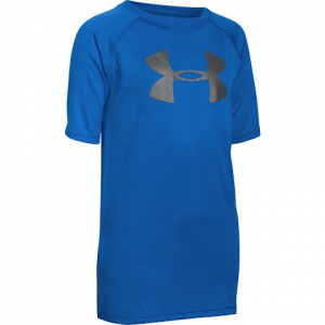 Under Armour Boy ' S Youth Big Logo Tech Short Sleeve Tee - Ultra Blue