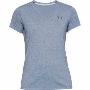 Under Armour Women ' S Ua Threadborne Train Twist V - Neck - Utility Blue