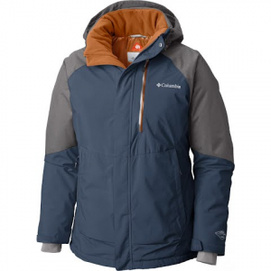 Columbia Men ' S Wildside Omni - Heat Jacket - Dark Mountain / Boulder Heather