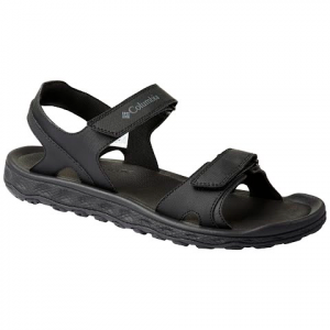 Columbia Men ' S Buxton 2 Strap Sandal - Black / Charcoal