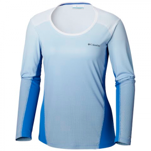 Columbia Women ' S Solar Chill 2 . 0 Long Sleeve Shirt - Arctic Blue