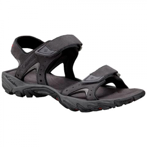 Columbia Men ' S Santiam 2 Strap Sandal - Dark Grey / Rusty