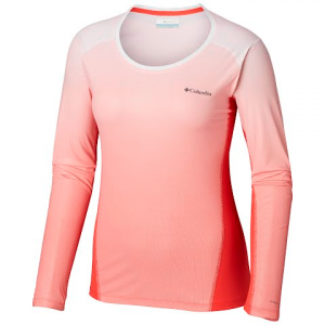 Columbia Women ' S Solar Chill 2 . 0 Long Sleeve Shirt - Red Coral
