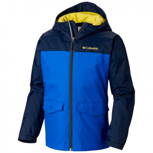 Columbia Boys Youth Rain Zilla Jacket - Super Blue / Collegiate Navy